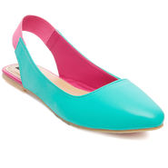 Synthetic Leather Turquoise Womens Bellies -ts03