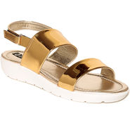 Ten Leather Golden Sandals -tens30