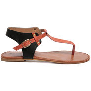 Ten Leather Black Women Sandal -tn42