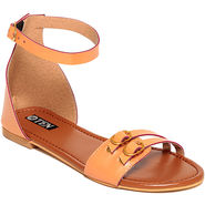 Patent Leather Tan Sandals -17Tan01
