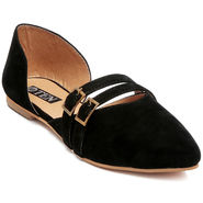 Suede Leather Black  Womens Bellies -ts07