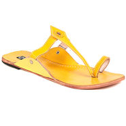 Womens Ethnic Slippers tj16 -Yellow