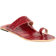 Womens Ethnic Slippers tj25 -Maroon & Cherry