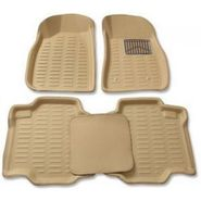 3D Foot Mats for Mahindra Scorpio Beige Color Without Dikki Mat-TGS-3D beige 62