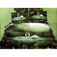Valtellina 100% Cotton King Size 3D Double Bedsheet With 2 Pillow Covers-TK-017