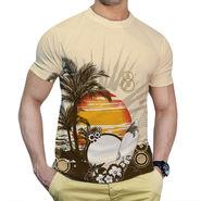 Effit Printed Casual Tshirts_Trp0602 - Peach