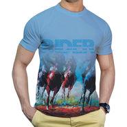 Effit Printed Casual Tshirts_Trsb0611 - Sky Blue