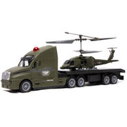The Flyer's Bay 2 in 1 Combo of Army Edition 3.5Ch Helicopter & 4Ch RC Truck