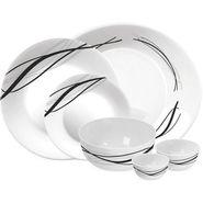 Treo Bormioli Autumn Leaf Flowblack Pack of 21 Glass Dinner set   LE-TREO-005-21