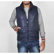 Branded Sleeveless Bomber Jacket (Polyester) For Men _U.S-POLO-N.BLUE -  Navy Blue