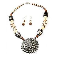 Urthn Antique Necklace Set - White - 1102532