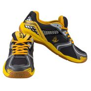 V22 Badminton Court Dark Grey and Yellow Shoes Size - 9