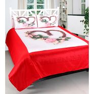 Heart Print Double bedsheet With 2 Pillow Covers-VAL-002
