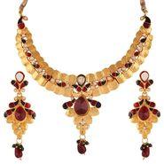 Variation Maroon & Green Meenakari Gold Plated Necklace Set_Vd13244
