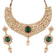 Variation Green Kundan Royal Necklace Set_Vd13998