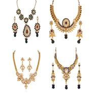 Combo of 4 Variation Nacklace Sets with Earrings_Vd15698