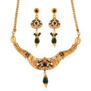Variation Green Antique Necklace Set_Vd15931