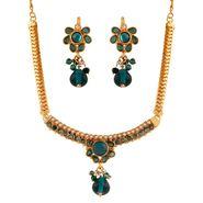 Variation Blue Kundan Necklace Set_Vd15935