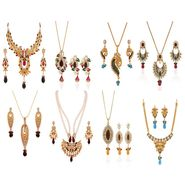 Combo of 3 Variation Necklace Sets + 5 Chain Pendent Sets_Vd16415