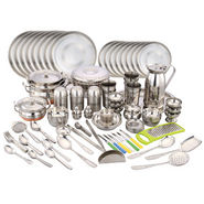 Klassic Vimal 163 Pcs Stainless Steel Dinner Set - Silver
