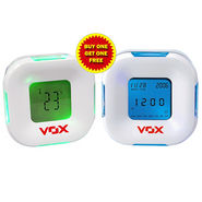 Vox Multifunction Magic Clock With 2 Inch LCD Display & Blue-Green LED Backlight