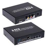 Gadget Hero Video Converter 720P/1080P AV + HDMI To HDMI Conversion Built in NTSC to PAL - Black