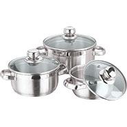 Vinod 202 3pcs Breman Sauce Pot - Silver