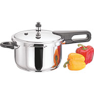 Vinod 6 Ltr Induction Friendly Splendid Plus Pressure Cooker With Lid - Silver