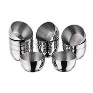 Vinod Kraft 12pcs Premium Katories (Medium) - Silver