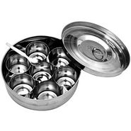 Vox Stainless Steel Masala Dabba - Silver