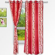 Story @ Home Maroon 2 pc Window curtain-5 feet-WNR3015