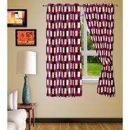 Story @ Home Purple 2 pc Window curtain-5 feet-WNR3049