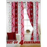 Set of 4 Printed Window curtain-5 feet-WNR_2_2005