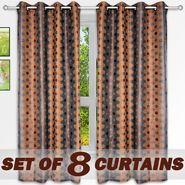 Set of 8 Printed  Window curtain-5 feet-WNR_4_2075