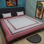 Manukunj Double Bedsheet With 2 Pillow Covers-WORLD1