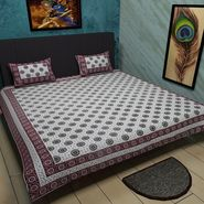 Manukunj Double Bedsheet With 2 Pillow Covers-WORLD10