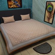 Manukunj Double Bedsheet With 2 Pillow Covers-WORLD11
