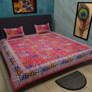 Manukunj Double Bedsheet With 2 Pillow Covers-WORLD12