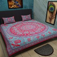 Manukunj Double Bedsheet With 2 Pillow Covers-WORLD8