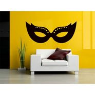 Black Mask Decorative Wall Sticker-WS-08-124