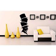 Black Men Face Decorative Wall Sticker-WS-08-189