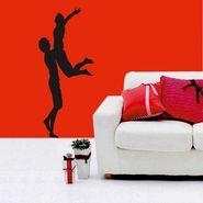 Black Couple Decorative Wall Sticker-WS-08-206