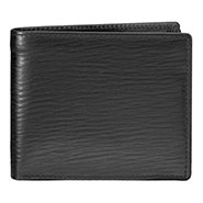 Walletsnbags Nova Long Grain Leather Wallet - Black