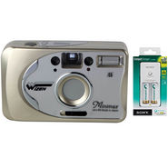 Wizen Minimax Film Camera with Sony BCG-34HW2RN Battery Charger
