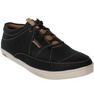 Yellow Tree PU Black Casual Shoes -sos02