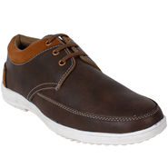 Yellow Tree PU Brown Casual Shoes -sos05