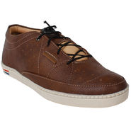 Yellow Tree PU Brown Casual Shoes -sos04