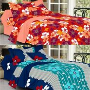 Valtellina Combo of 2 Double Bed Sheets with 4 Pillow Covers-YTD_C2_30_40