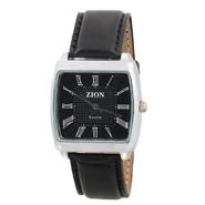 Zion Fashion Analog Wrist Watch for Men - Black_ZW 366
