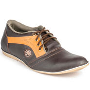 Foot n Style Artificial Leather Brown Casual Shoes -fs3021